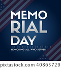 Happy memorial day papper banner 40865729