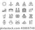 Taiwan icon set. 40869748