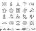 United Kingdom icon set. 40869749