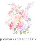 花卉 玫瑰 花束 40871317