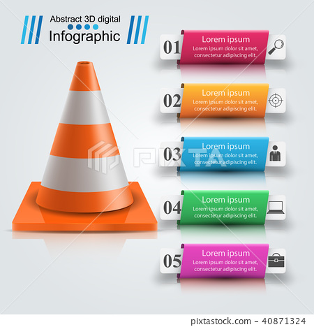 Repair road infographic design template and marketing icons. 40871324