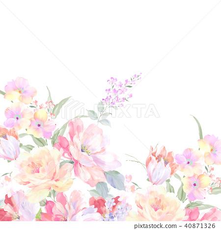 수채화 장미 컬렉션 40871326