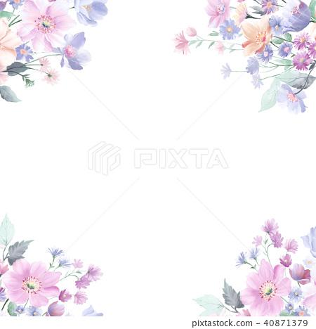水彩玫瑰花採集 40871379