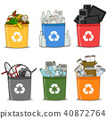 Colorful recycle bin  40872764