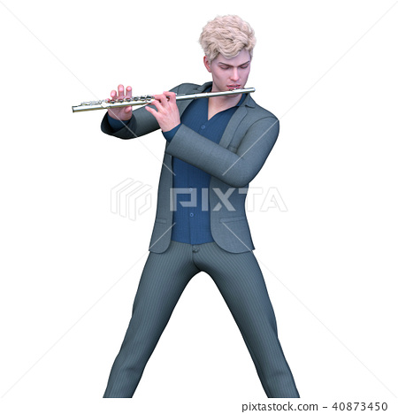 Flute player 40873450