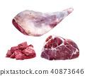 肉 猪肉 水彩画 40873646