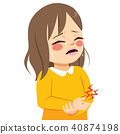 Girl Hurt Hand 40874198