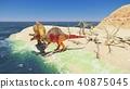 3D rendering scene of the giant dinosaur 40875045