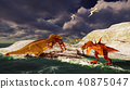 3D rendering scene of the giant dinosaur 40875047