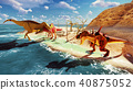 3D rendering scene of the giant dinosaur 40875052