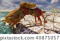 3D rendering scene of the giant dinosaur 40875057