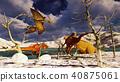 3D rendering scene of the giant dinosaur 40875061