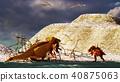 3D rendering scene of the giant dinosaur 40875063