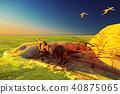 3D rendering scene of the giant dinosaur 40875065