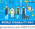 Care people with disabled illustration concept. 40875229