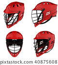 Set of Classic Lacrosse helmets. 40875608
