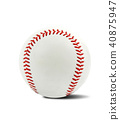 baseball ball on a white background 40875947