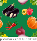 seamless pattern vegetables 40878140