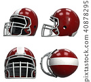 Set of Old American Football Helmets 40878295