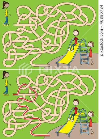 Toboggan maze 40880784