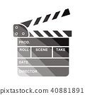 Clapperboard icon 40881891