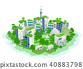 Green Sustainable City Illustration 40883798