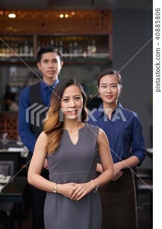 Team of restaurant workers 40885806