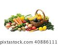 水果 蔬菜 裝配 40886111