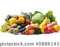 야채와 과일의 집합 40886143