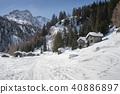 snowy,snow,village 40886897