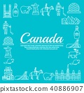 Country Canada travel vacation infographic  40886907