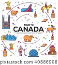 Country Canada travel vacation infographic  40886908