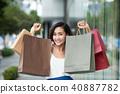 woman, young, shopping 40887782