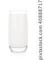 milk, glass, white 40888717