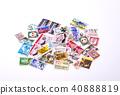 외국 우표 오래된 외국 우표 이미지 소재 스탬프 찍힌 우표 40888819