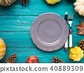 autumn, plate, empty 40889309