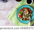 Salad with strawberries, arugula and parmesan 40889373
