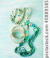 Girl's accessories on pastel background 40889385