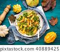 pumpkin pasta arugula 40889425