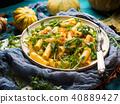 pumpkin pasta arugula 40889427