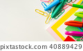 Stationery colorful school writing tools  40889429