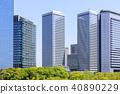 오사카, 초여름, 비즈니스 거리 40890229