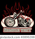 vector cartoon motorbike 40890288