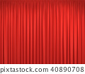 Red stage curtains 40890708