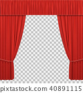 Red stage curtains 40891115