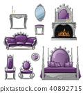 紫色 复古 矢量 40892715