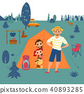Family camping concept 40893285