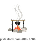campfire, icon, isolated 40893286