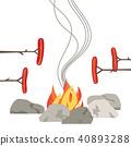 campfire, fire, icon 40893288