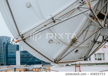 satellite dish industrial  roof  building 40893753